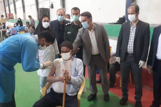 آغاز واکسیناسیون عمومی کرونا در سپیدان