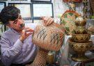 برتری هنرمند خاتم ساز شیرازی در جشنواره هند