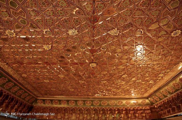 کتیبه سقف بارگاه امام حسین (ع) در شیراز رونمایی شد