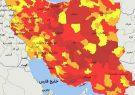 خودنمایی رنگ قرمز کرونایی در نقشه فارس