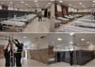 آماده سازی و تجهیز بزرگترین مرکز بستری موقت بیماران کرونایی در شیراز